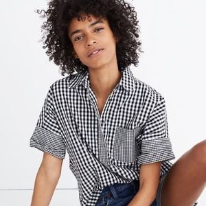 Madewell Gingham-Play Button-Down Shirt